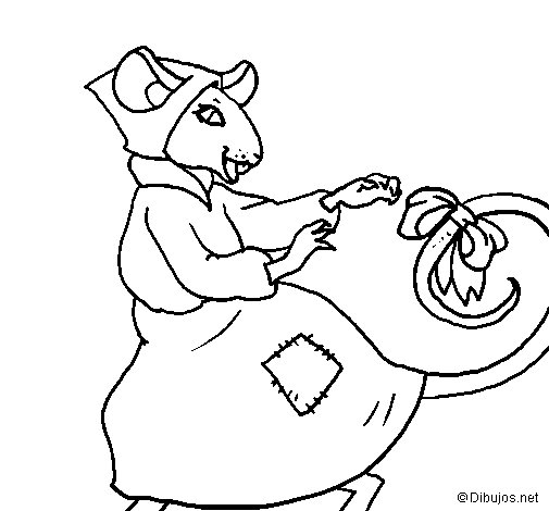 The vain little mouse 7 coloring page