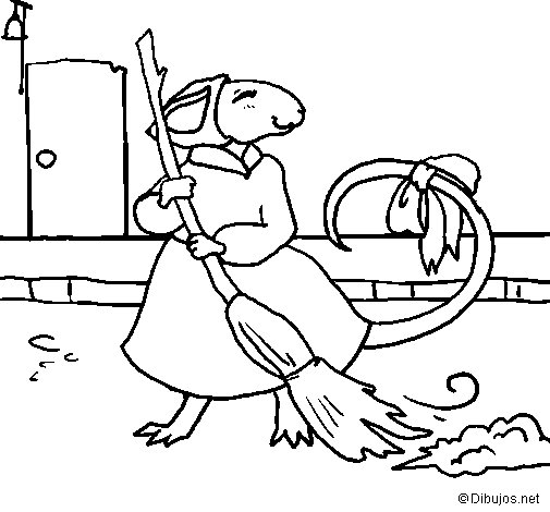 The vain little mouse 8 coloring page