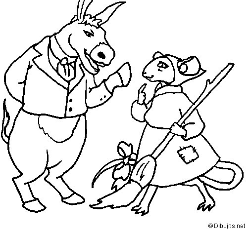 The vain little mouse 9 coloring page