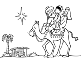 The Wise Men coloring page