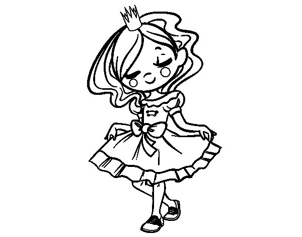 The young princess coloring page