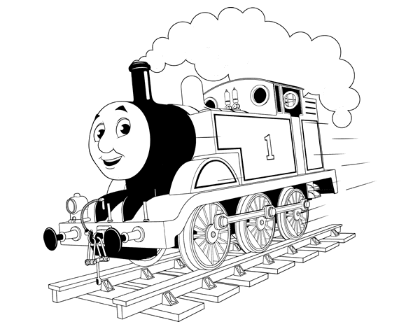 Thomas The Blue Engine Coloring Page Coloringcrew Com