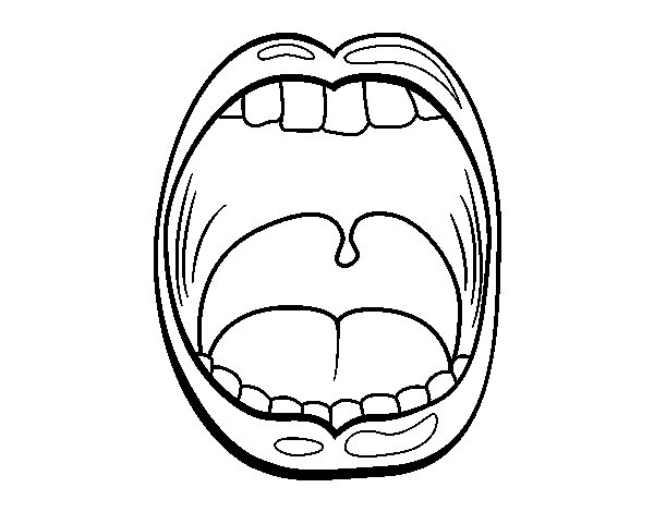 Throat coloring page