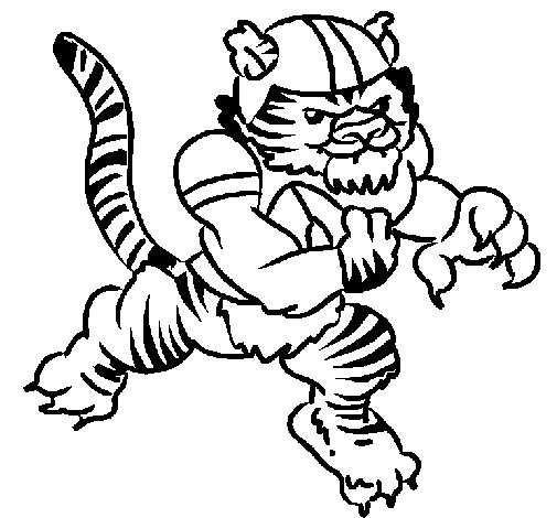 Tiger player coloring page