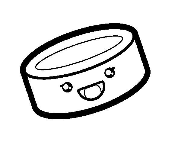 Tin can of food coloring page