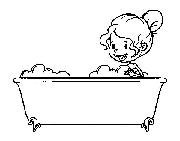 To have a bath coloring page - Coloringcrew.com