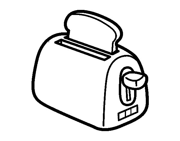 Free Coloring Pages Of Microwave Oven