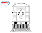 Toby from Thomas and friends  coloring page