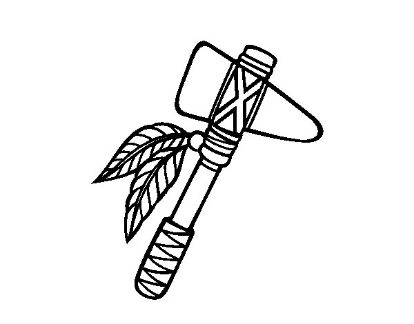 Tomahawk coloring page