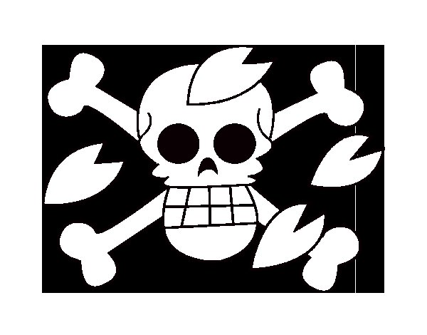 Tony flag coloring page