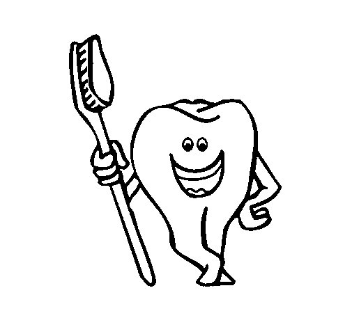 Tooth and toothbrush coloring page Coloringcrewcom