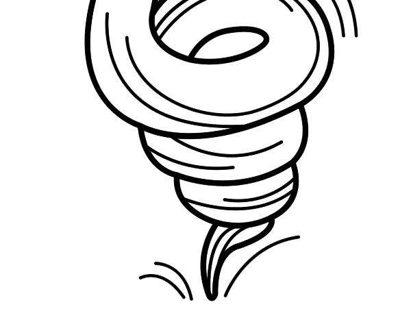 Free Coloring Pages Of On Tornado Tornado Coloring Page