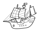 Toy Boat coloring page