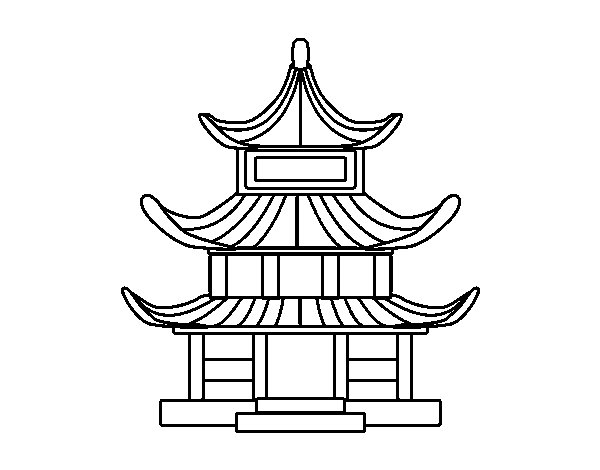 Traditional Japanese House Coloring Page