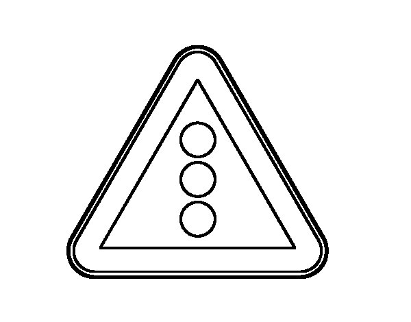 stop light coloring page - traffic light coloring page