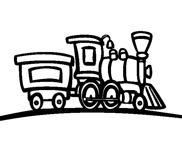 Train with wagon coloring page