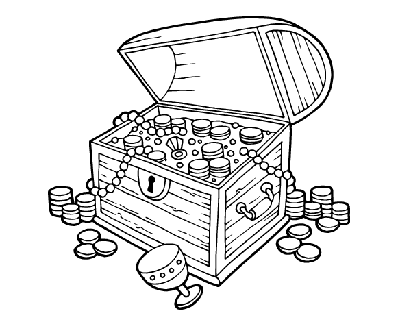 treasure coloring pages treasure chest free colouring pages