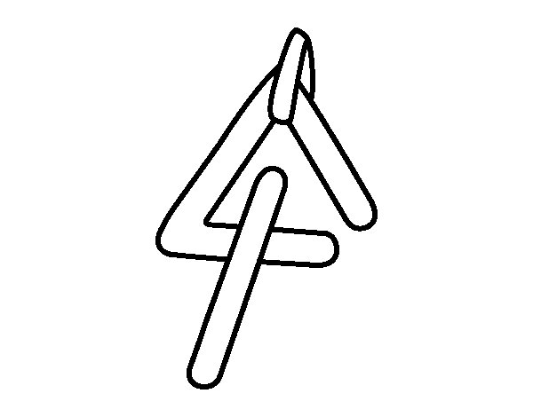 triangle instrument coloring page - Triangle Instrument Coloring Page
