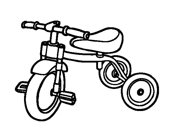 Tricycle for children coloring page