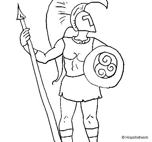 Trojan warrior coloring page