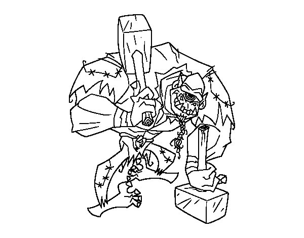 Troll cyclops coloring page