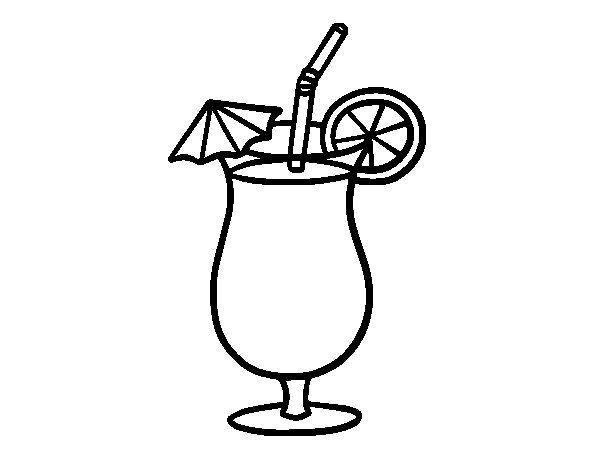 Tropical Juice Coloring Page