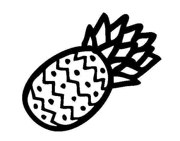 Tropical pineapple coloring page