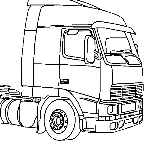 Truck 5 coloring page