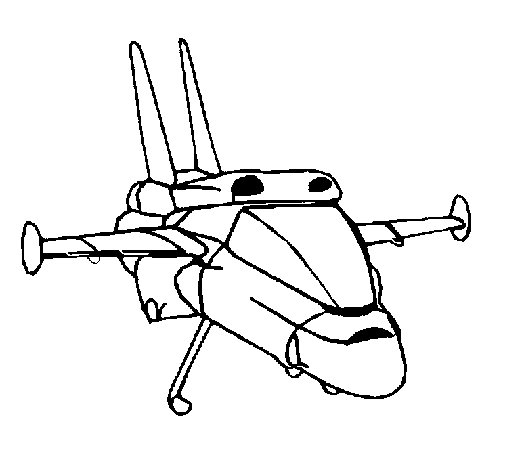 Turbo ship coloring page