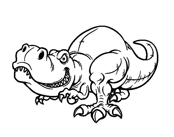 Tyrant lizard coloring page