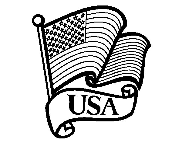 U.S. Flag coloring page