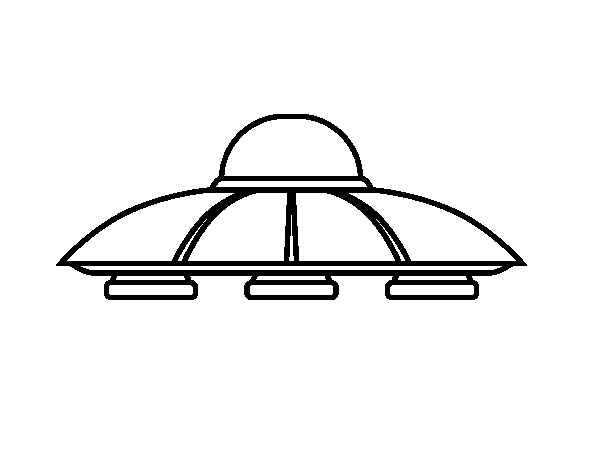 UFO aliens coloring page