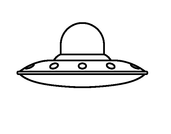 UFO invasive coloring page