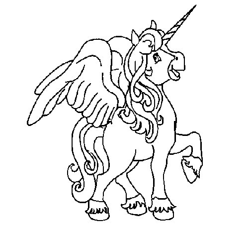 unicorn with wings coloring page - Coloring Pages Unicorn Wings