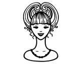 Up-do  coloring page