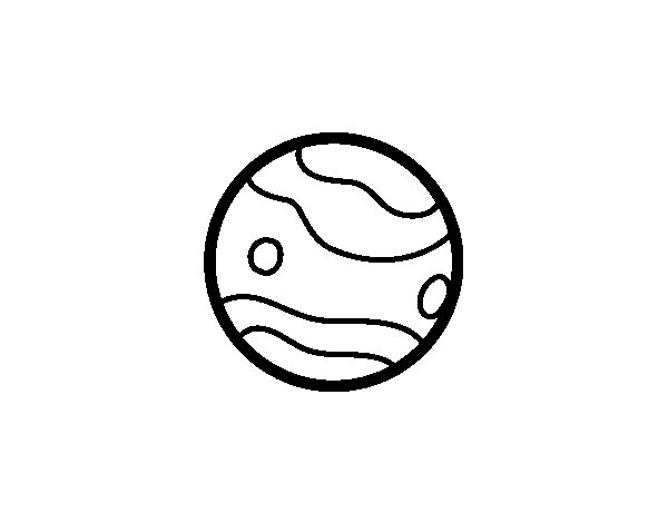 Uranus planet coloring page