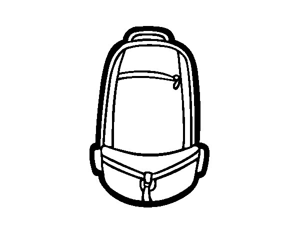 Urban backpack coloring page