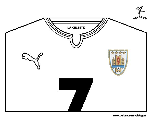 uruguay world cup 2014 t shirt coloring page