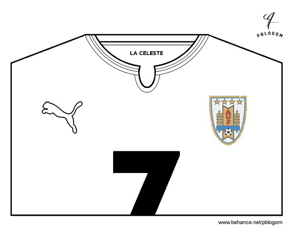 world cup coloring pages - uruguay world cup 2014 t shirt coloring page