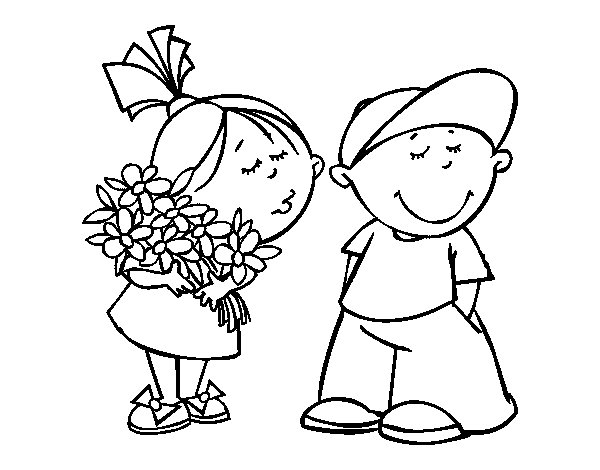 Valentine gift coloring page