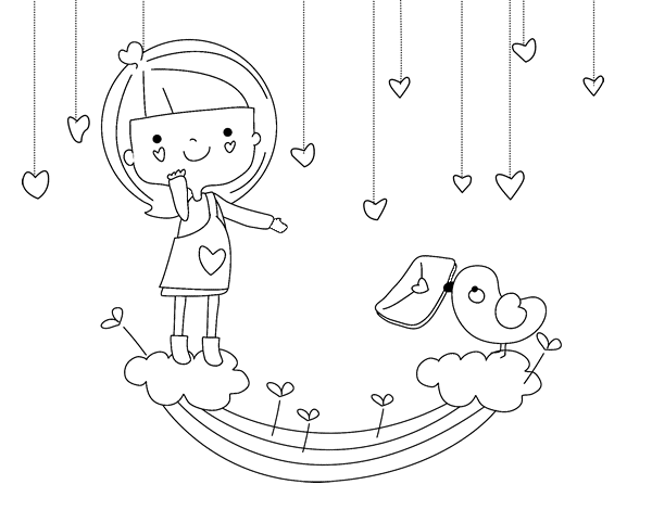 valentine coloring pages spanish - photo #41