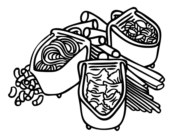 Free Coloring Pages Of Pasta Spaghetti Pasta Coloring Pages