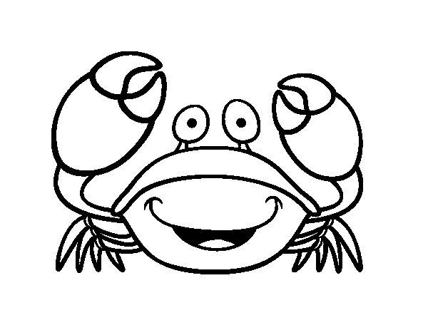Velvet crab coloring page Coloringcrewcom