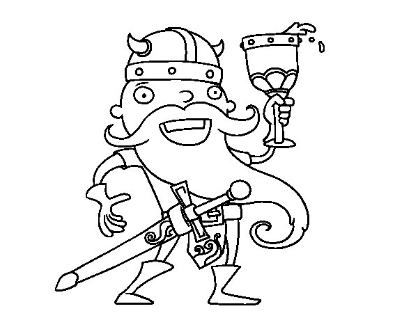 Vikings celebrating coloring page