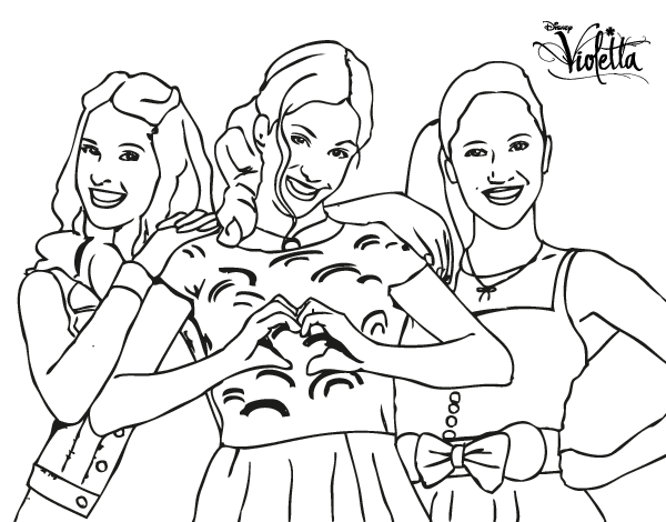 Violetta Coloring Pages Printable Coloring Pages