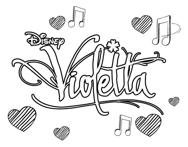 Violetta Logo Coloring Coloring Pages