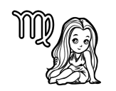 Virgo horoscope  coloring page