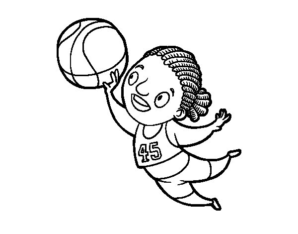 Volleyball player coloring page