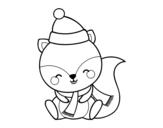 Warm squirrel coloring page
