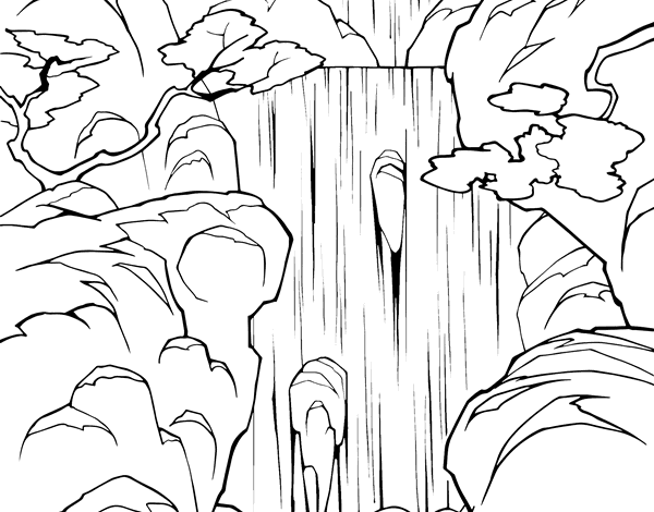 Waterfall coloring page for Waterfall coloring page